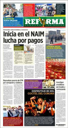 La Reforma Newspaper in Mexico